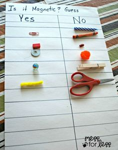 Here's some learning that sticks - have your kids guess what's magnetic and what's not, then test for themselves! #kidsscience
