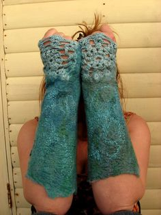 combination  textile arts - crochet & felt