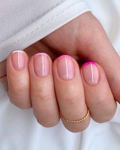 Shellac Nails, Acrylic Nails, Nail Polish, Cute Nails, Pretty Nails, Milky Nails, Nail Photos, Minimalist Nails, French Tip Nails