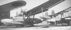 """Several Yokosuka H8Y-1 Type 99 flying boats in dry dock Code name """"Cherry"""""""