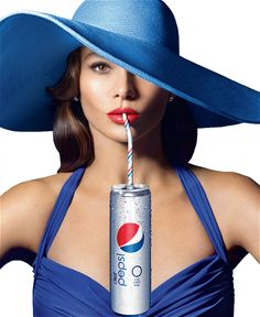 Sofia Vergaras Diet Pepsi Skinny Can Ad Campaign. Hat by Kokin New York. #passion4hats