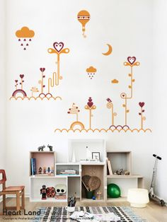 Heart Land a Wall Sticker by Vinylize Wall Deco