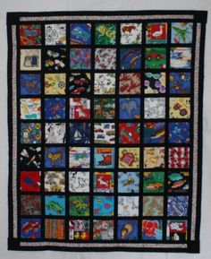 i spy quilt  i like this one because of the black borders