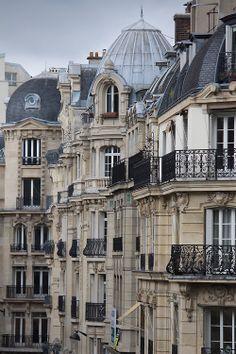 Balconies, Paris, France