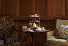 Enjoy the best afternoon tea - ever! Huge freshly made scones with jam & clotted cream, a selection of cakes and sandwiches and delicious macaroons at Eynsham Hall Hotel in Oxfordshire