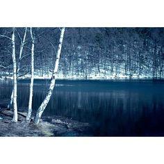 長野県は雪がたくさん降ることでも有名ですよね。 御射鹿池も例外ではなく、雪の季節にはこんなに美しい雪景色が見られます。
