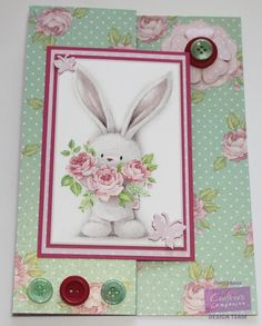 Carole Davis  for Crafter's Companion - Bebunni Floral CD - S Fold Card - Toppers 1 - Embellishments 1 Layered Flowers - Centura Pearl A4 Hint of Gold - Neenah Solar White - Bebunni Floral Collection Dies Butterfly and Bee