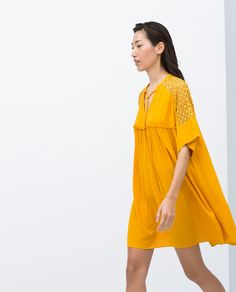 Image 2 of COMBINED GUIPURE DRESS from Zara