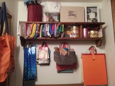 Spare shelf and wall space in my furnace room makes a nice giftwrap storage station. I'm ready for all year! Wall Spaces, Shelf, Gift Wrapping, Storage, Nice, Room, Gift Wrapping Paper, Purse Storage, Bedroom