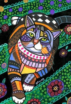 Jigsaw puzzle 1000 pieces by Heather Galler 'Cat' by GeckoRouge, $43.00