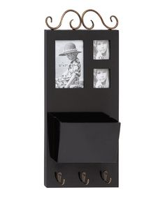 Another great find on #zulily! Black Picture Frame Wall Hook by UMA Enterprises #zulilyfinds