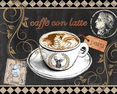 Morgan-Yamada-Coffee-Elk-Fertig-Bild-24x30-Wandbild-Cafe-Kueche-Kaffee