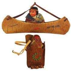 Two Native American Indian Souvenir Dolls Native American Dolls, Native American Pictures, Native American Indians, Vintage Dolls, 1930s, Nativity, Antiques, Souvenir, Antiquities