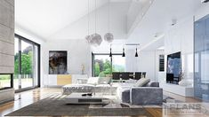 "Villa ""Palma"" | Plans | Проекти будинків Bungalow House Design, Modern Bungalow, Modern House Design, House Plans Mansion, Dream House Plans, House Design Pictures, Beautiful House Plans, Architectural House Plans, House Layout Plans"