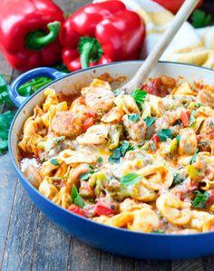Chicken Sausage and Tortellini