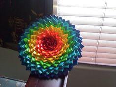 Huge duct tape flower!