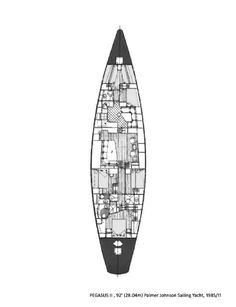 All Ocean Sailing Yachts for Sale Pegasus II Layout