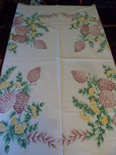 Rare Vintage Startex Starfield Tablecloth by PleasantDaysVintage