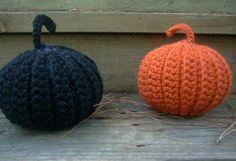 Set of two crochet pumpkins handmade crochet by ILoveCrochetByAnna, $30.00