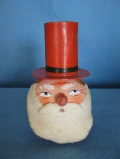 ANTIQUE GERMAN PAPER MACHE UNCLE SAM CANDY CONTAINER/BOX WITH NOISE MAKER  | eBay Noise Maker, Candy Containers, Wall Pockets, Dear Santa, Paper Mache, Vintage Paper, Doll Toys, Letterpress, 4th Of July