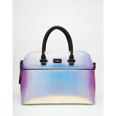 Pauls Boutique Maisy Handbag in Holographic ($115) ❤ liked on Polyvore featuring bags, handbags, hologram, holographic handbag, man bag, hologram handbag, white hand bags and white handbags