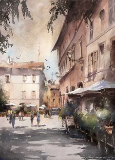 Vladislav Yeliseyev Watercolor Artist and Architectural Illustrator