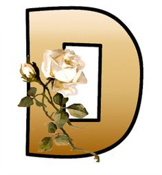 ArtbyJean - Paper Crafts: Shades of tan with white roses on a SET OF ALPHABETS A to Z Clipart to cut and past on your paper crafts - For digital arts, collage, crafts, decoupage, cards and scrapbooks