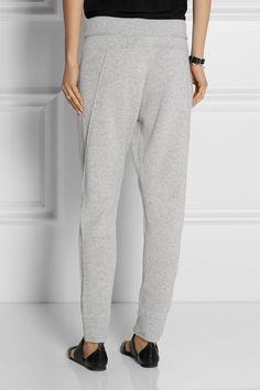 Helmut Lang | Cashmere track pants | NET-A-PORTER.COM $595 Light-gray cashmere Pull on 100% cashmere Dry clean