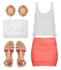 Summer Outfit... this is great for a summer night out with the girlies! so cute