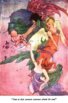 "Someone Seized His Arm; The Wee Little Cupid & the Magic Stardust from ""Little Folks - The Magazine for Boys and Girls"" - London: Cassell and Co., Ltd., 1915."