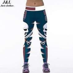 JLZLSHONGLE Skull 3D Print Sporting Leggings Sexy Women Clothing 22 Colors Dry Quick Elastic Fitness Workout Pants Slim Jeggings