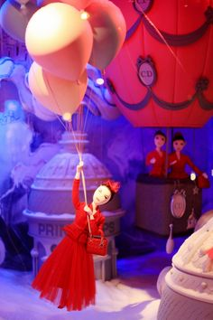 Dior Christmas Window Display at Printemps in Paris ~ The Cherry Blossom Girl Cherry Blossom Girl, Dior, Christmas Window Display, Visual Display, Girly Girl, December, Birthday Cake, Collections, France