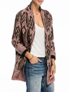 Manteau cocon tribal