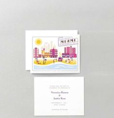 Visit Miami Save the Date Card