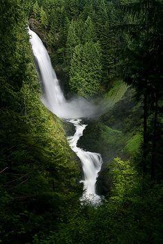 Wallace Falls near Gold Bar in Washington. Best hiking spot I've been to in WA so far. Soooooo beautiful, just a few miles, and includes multiple breathtaking waterfalls