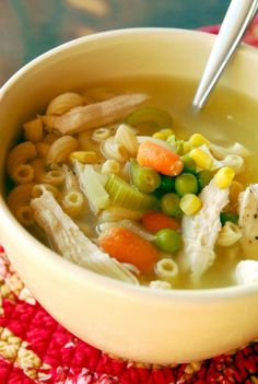 Leftover turkey? Throw this turkey noodle soup in your Crock Pot!