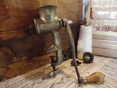 Antique Universal Meat Grinder  by KnickofTime on Etsy, $13.00