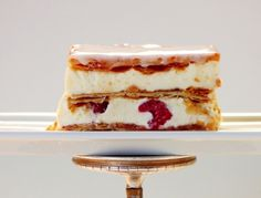 Cremeschnitte – a delicious light and airy vanilla creme encased by two thin and delicately crispy layers of flaky pastry. Austrians love this sweet dessert Austrian Desserts, Austrian Cuisine, Austrian Recipes, Vegetarian Breakfast Recipes, Flaky Pastry, Pastry Shop, Special Recipes, Sweet Bread, Vanilla Cake