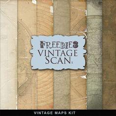 Freebies Vintage Maps Kit ~ Far Far Hill