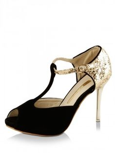 MY FOOT Sequined T-Strap Sandals