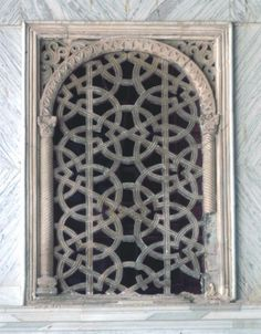Window grille from Great Mosque of Damascus,(Umayyad Mosque), Syria 691