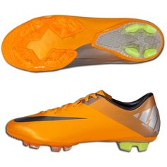 nike mercurial miracle II cleats/ ive always wanted to try orange cleats