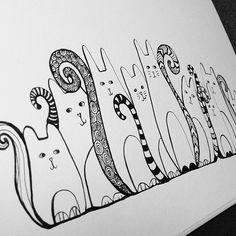Zentangle kitties