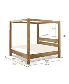 Ana White Build a Minimalist Rustic King Canopy Bed Free and Easy DIY Project and Furniture Plans Canopy Bed Frame, Diy Bed Frame, Diy Canopy, Bed Frames, Canopy Beds, Wood Canopy Bed, Patio Canopy, Wood Headboard, Canopy Bedroom