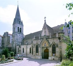 Eglise St Saturnin. Nogent-sur-Marne.  Ile-de-France. Nogent Sur Marne, Barcelona Cathedral, Meet, Paris, Mansions, Country, House Styles, Building, Home