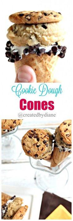 cookie dough cones