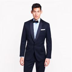 2014 Trends - 12. Blue Suits For Grooms When it comes to wedding style for the boys, think blue, not black. Suits in rich tones like midnight and navy look chic and fresh, and are the perfect shades to pair with colourful shirts, ties and socks.