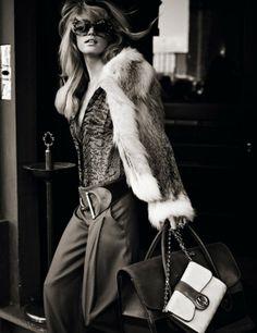 Julie Ordon as Gucci girl in Elle Italia