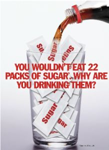 Food...err, drink for thought!  #sugar #health #soda