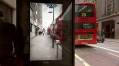 unbelievable bus shelter by pepsi max. the interactive installation fools commuters with streams of robot crashing through the stree augment...